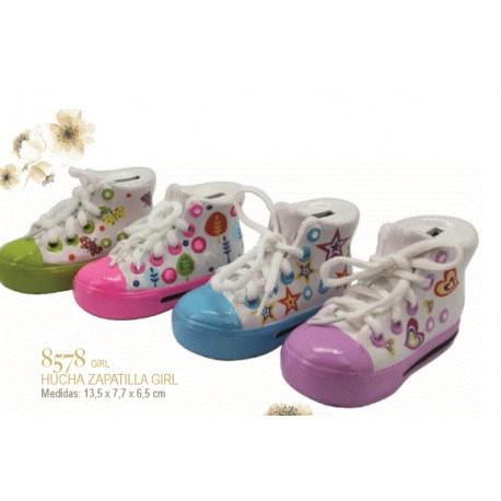Hucha zapatilla cerámica niña