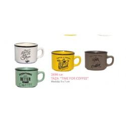 Detalle celebraciones taza time for coffe
