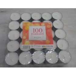 Espelmes de te Roura pack 100 unitats blanques sense aroma