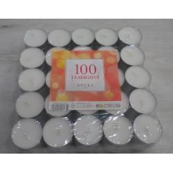 Velas de té Roura pack 100 unidades blancas sin aroma
