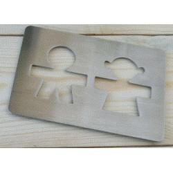 Posavasos metal siloueta Mr & Mrs