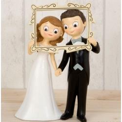 Figura pastís casament nuvis marc