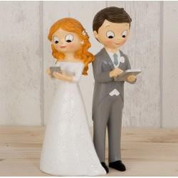 Figura tarta boda novios tecnológicos