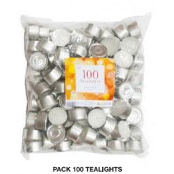 Velas tealight Roura pack 100 unidades 8h.