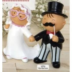 Figura tarta boda novios photocall