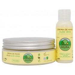 Crema de manos y pies Giura al Aloe vera 50 y 200 ml.